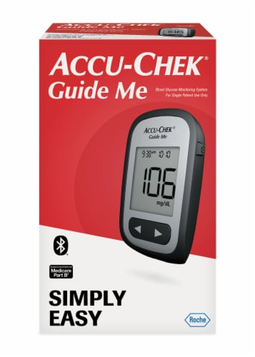 Accu-Chek Guide Me Blood Glucose Monitoring System Perspective: front