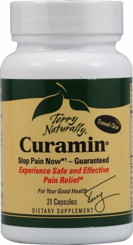 Terry Naturally Curamin Travel-Size Pain Relief Capsules Perspective: front