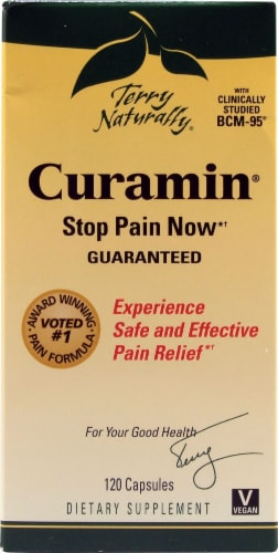 Terry Naturally Curamin Pain Relief Capsules Perspective: front