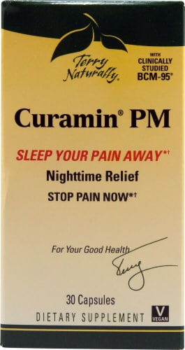 Terry Naturally Curamin PM Capsules Perspective: front