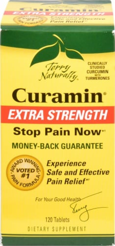 Terry Naturally Curamin Extra Strength Tablets Perspective: front