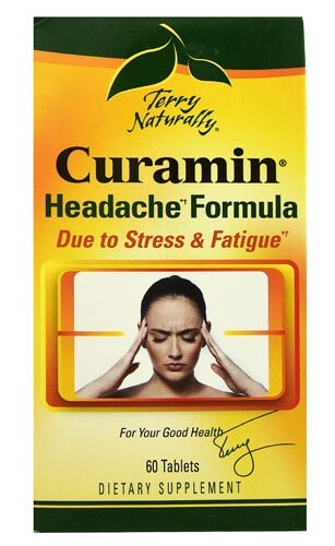 Terry Naturally Curamin Headache Formula Tablets Perspective: front