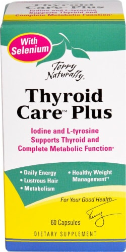 Terry Naturally  Thyroid Care™ Plus with Selenium Perspective: front