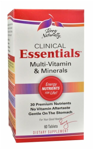 Terry Naturally  Clinical Essentials™ Multi-Vitamin & Minerals Perspective: front