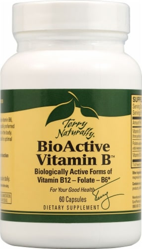 Terry Naturally BioActive Vitamin B Capsules Perspective: front