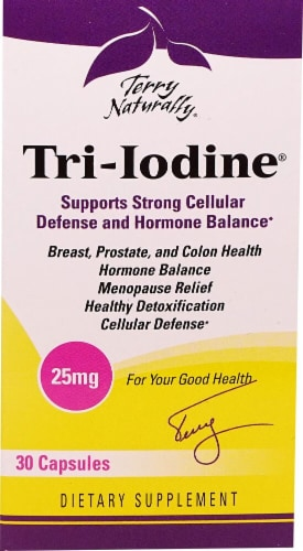 Terry Naturally Tri-Iodine Tablets 25 mg Perspective: front