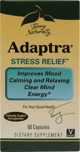 Terry Naturally  Adaptra® Ashwagandha and Rhodiola Perspective: front