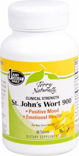 Terry Naturally Clinical Strength St. John's Wort 900 Tablets Perspective: front