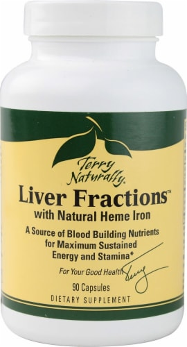 Terry Naturally  Liver Fractions™ with Natural Heme Iron Perspective: front