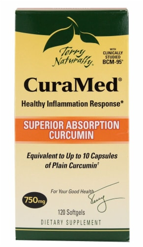 Terry Naturally  CuraMed® Superior Absorption Curcumin Perspective: front