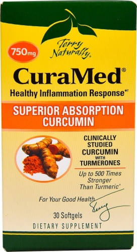 Terry Naturally CuraMed Softgels 750 mg Perspective: front
