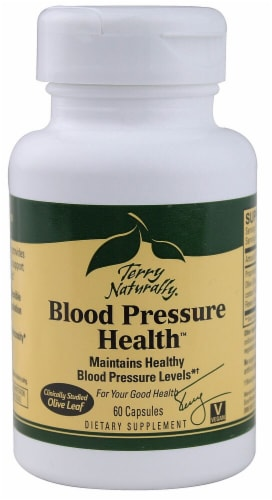 Terry Naturally Blood Pressure Health Supplement Perspective: front