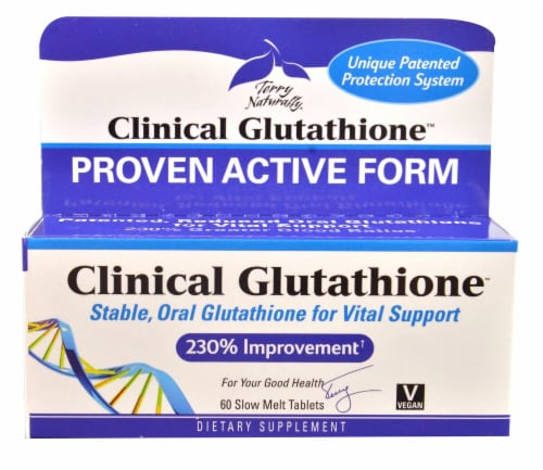 Terry Naturally Clinical Glutatione Tablets Perspective: front