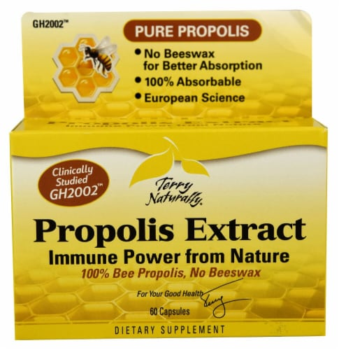 Terry Naturally Propolis Extract Capsules Perspective: front