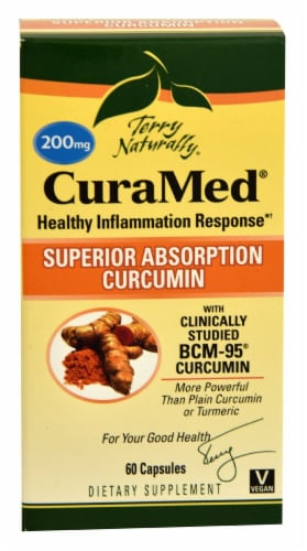 Terry Naturally CuraMed Healthy Inflammation Response Caplets 200 mg Perspective: front