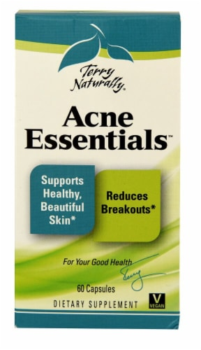 Terry Naturally Acne Essentials Capsules Perspective: front