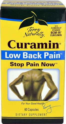 Terry Naturally Curamin Low Back Pain Capsules Perspective: front
