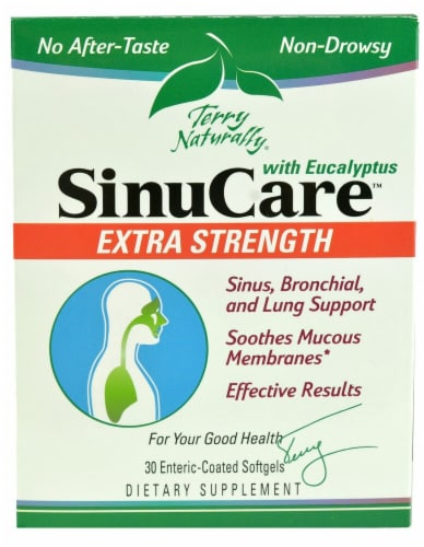 Terry Naturally SinuCare Extra Strength Softgels 30 Count Perspective: front