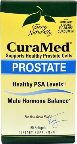 Terry Naturally CuraMed Prostate Softgels Perspective: front