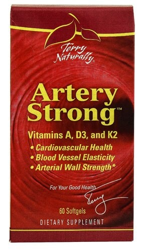 Terry Naturally Artery Strong Softgels Perspective: front