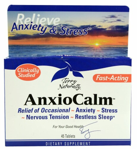 Terry Naturally AnxioCalm Tablets Perspective: front
