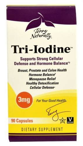Terry Naturally Tri-Iodine Capsules 3 mg Perspective: front
