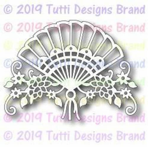 Tutti Designs - Dies - Floral Fan Perspective: front