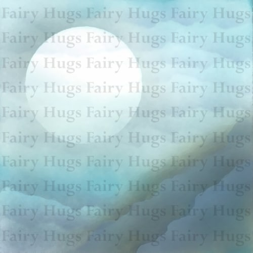 Fairy Hugs - Backgrounds - 6\  x 6\  - Cliff View Perspective: front
