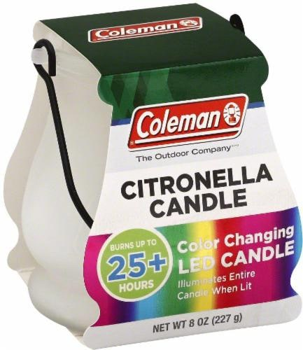 Coleman Citronella Color-Changing Candle - Multi-Color Perspective: front