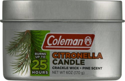 Coleman Pine Scented Citronella Tin Candle Perspective: front