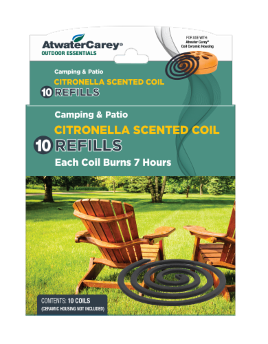 Atwater Carey Citronella Scented Coil Replacements Perspective: front