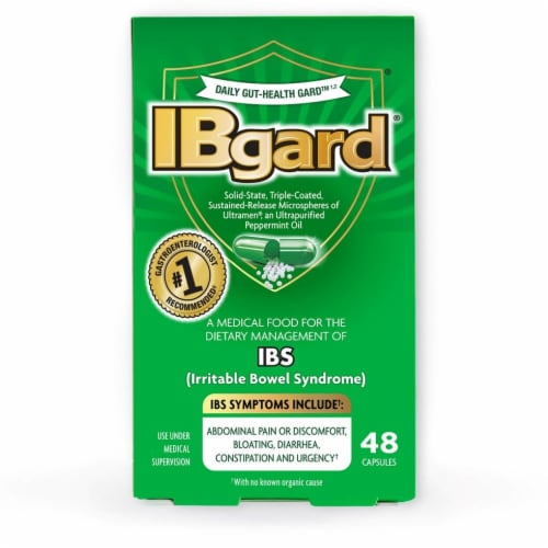 IBgard Irritable Bowel Syndrome Dietary Management Capsules 48 Count Perspective: front