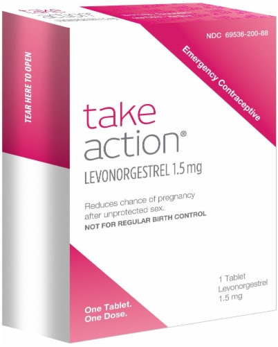 Take Action Emergency Contraceptive 1.5 mg Perspective: front