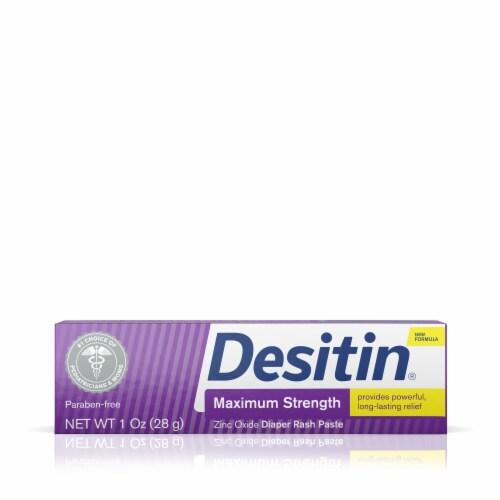 Desitin Maximum Strength Zinc Oxide Diaper Rash Paste Perspective: front