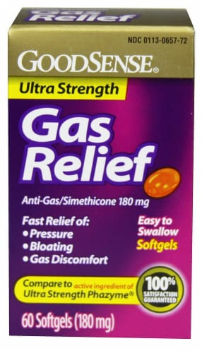 Good Sense Ultra Strength Gas Relief Simethicone Softgels 180mg Perspective: front