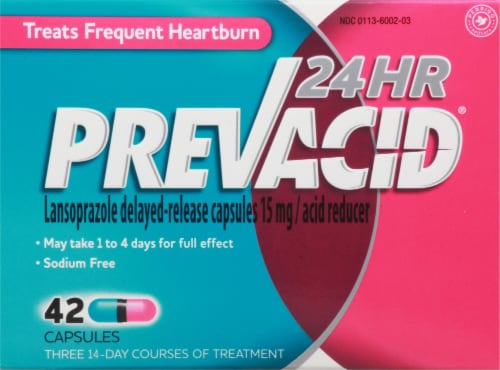 Prevacid Lanso Acid Reducer Capsols Perspective: front