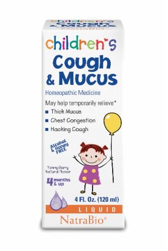 NatraBio Children's Cough & Mucus Liquid Perspective: front