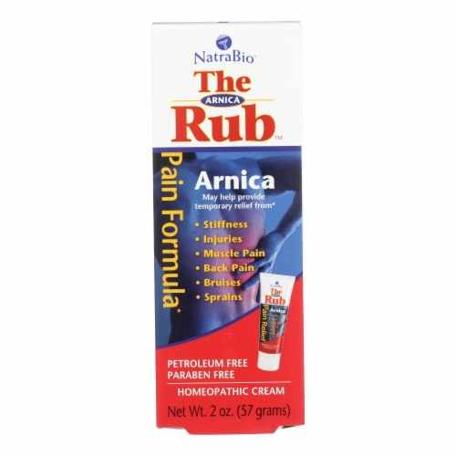 NatraBio  The Arnica Rub™ Pain Relief Cream Perspective: front