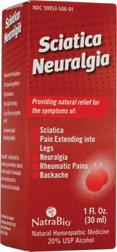 NatraBio  Sciatica Neuralgia Perspective: front