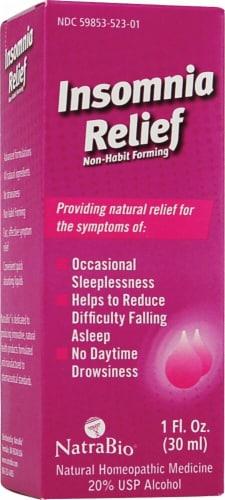 NatraBio  Insomnia Relief Non-Habit Forming Perspective: front