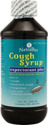 NatraBio Adult Cough Syrup Perspective: front