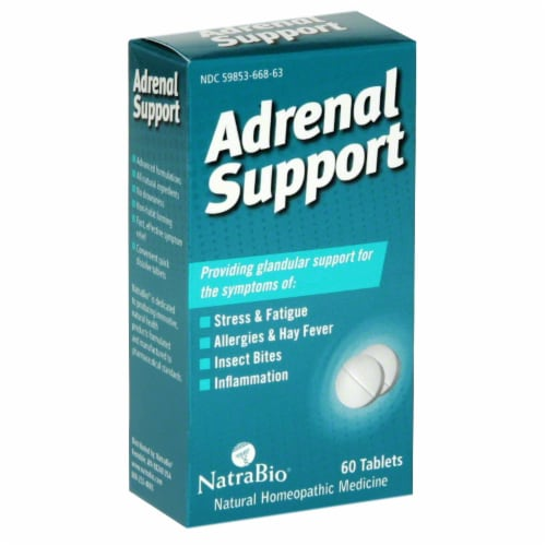 NatraBio Adrenal Support Tablets Perspective: front