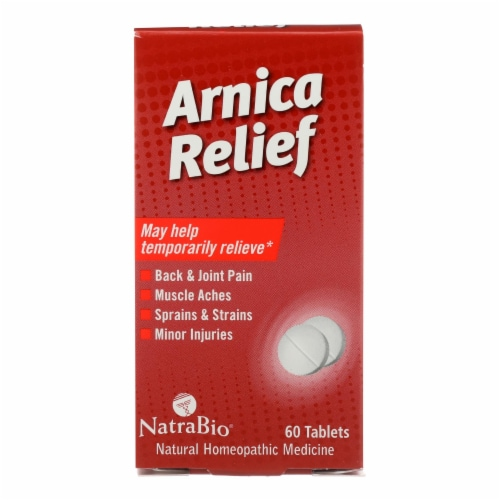 Natrabio Arnica Relief Natural Homeopathic Medicine  - 1 Each - 60 TAB Perspective: front
