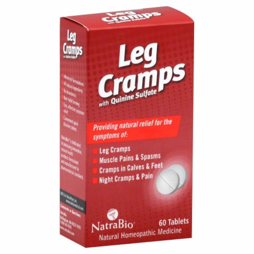 NatraBio Leg Cramps Tablets Perspective: front