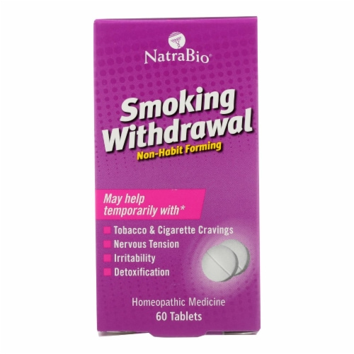 NatraBio Smoking Withdrawal Tablets Perspective: front