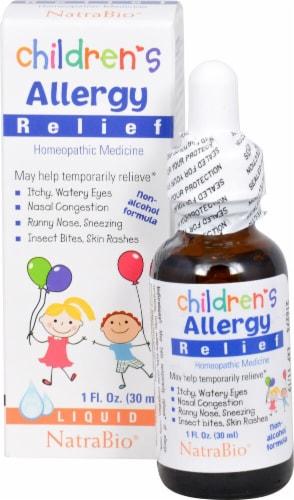 NatraBio Children's Allergy Relief Liquid Perspective: front