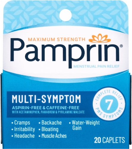 Pamprin Multi-Symptom Relief Caplets Perspective: front