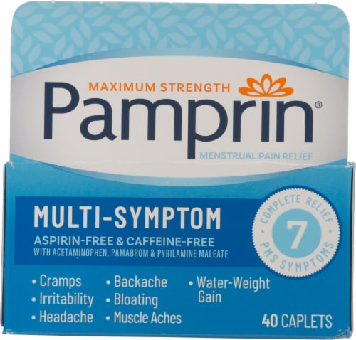 Pamprin Multi-Symptom Caplets Perspective: front