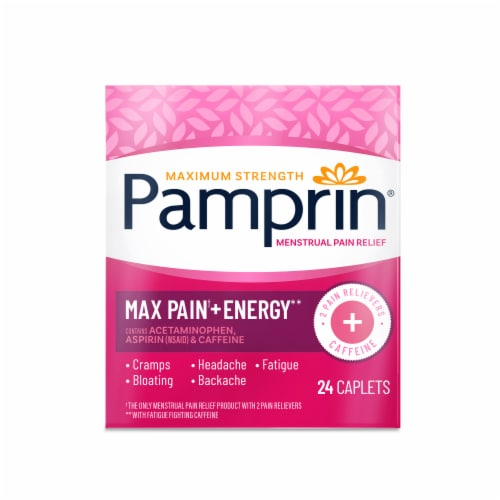 Pamprin Maximum Strength Menstrual Pain Relief Caplets Perspective: front