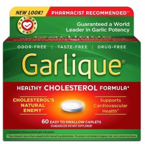 Garlique Dietary Supplement Caplets Perspective: front